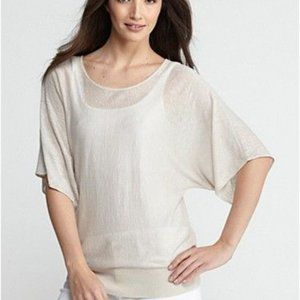 Superfine Linen Knit Tunic Sweater Top S